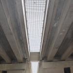 D1 - Soutice - Loket - zakrytí zrcadla mostu kompozitními skládanými rošty PREFAPOR - spodní pohled