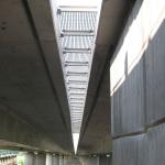 D11 most Žíželice - zakrytí zrcadla kompozitními rošty PREFAPOR - spodní pohled