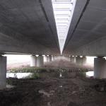 D11 most Žíželice - kompozitní zakrytí zrcadla, spodní pohled