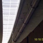 D8 most Trmice - kompozitní zakrytí zrcadla, spodní pohled