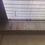 Silniční okruh kolem Prahy - kompozitní rošty PREFAPOR na zakrytí zrcadla - spodní pohled