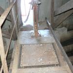 JE Dukovany, chladící věž - vstupní lávka před rekonstrukcí