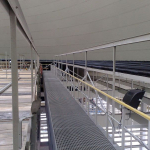 Elektrárna Počerady - zakrytí přívodních žlabů kompozitními rošty