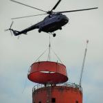 Elektrárna Opatovice - osazování kompozitního konfuzoru