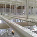 Elektrárna Počerady - příprava pro osazení kompozitních lávek