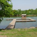 Kamencové jezero - kompozitní konstrukce mola s rošty PREFAPOR