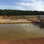 Kamencové jezero - osazování druhé výškové úrovně dna bazénu