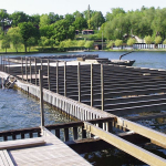 Kamencové jezero - výstavba kompozitní konstrukce mola