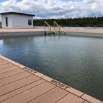 Jezero Matylda, Most - koš bazénu ze skládaných kompozitních roštů, kompozitní schody a zábradlí