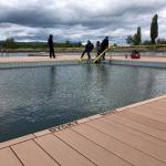 Jezero Matylda, Most - kompozitní konstrukce koše bazénu, kompozitní schody a zábradlí