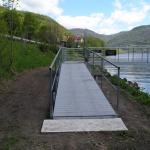 Lovosice, přístaviště na Labi - kompozitní rošty PREFAPOR na přístupové lávce k přístavišti