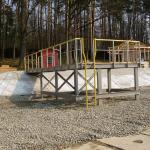 Ostrava Poruba - kompozitní konstrukce mola se zábradlím