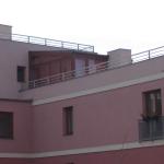 Malešická stráň - terasy osazené kompozitním zábradlím