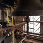 Kostel Baška - kompozitní žebřík ve zvonici