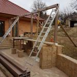 Výstavba kompozitní konstrukce pergoly