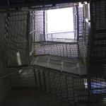 ČOV Budapešť - víceramenné kompozitní schodiště - spodní pohled