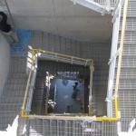 ČOV Budapešť - víceramenné kompozitní schodiště