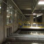 ČOV Budapešť - kompozitní zábradlí na lávkách mezi aktivačními nádržemi
