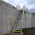 ČOV Modřice - jednoramenné kompozitní schodiště