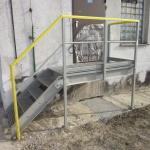ČOV Sereď - kompozitní přístupové schodiště s plošinou a zábradlím
