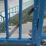 Vodní nádrž Těrlicko, bezpečnostní přeliv - detail kompozitní branky