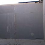 ČOV Ivanovce - kompozitní norná stěna - čelní pohled