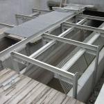 Odlehčovací komora Bratislava, Lesopark - výstavba kompozitních česlí s lávkou
