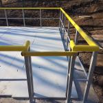 Sedimentační nádrž Nová Ves - kompozitní závora ve vstupu do nádrže