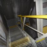 Spadiště Praha Myslbekova - výstavba kompozitního schodiště se zábradlím