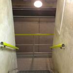 Vodojem Lhota u Vyškova - kompozitní schodiště a stěnová madla