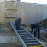 Vodojem Sotina - montáž kompozitního schodiště
