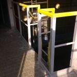 Vodojem Lhota u Vyškova - montáž kompozitního zábradlí a žebříku s rozšířeným výlezem