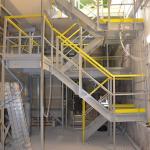 ČOV Zentiva - kompozitní lomené schodiště se zábradlím