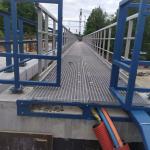 Železniční stanice Žďár n. Sázavou - kompozitní rošty a zábradlí