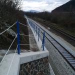Modernizace trati Púchov-Žilina - kompozitní zábradlí s lanky