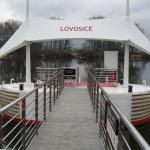 Kompozitní rošty PREFAPOR - přístaviště na Labi, Lovosice
