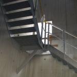 Kompozitní podesta schodiště se vzpěrou - ČOV Budapešť