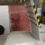 SMC - skládání vyrobeného prepregu