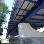 Most Valy - Mělice - spodní pohled na uchycení roštů