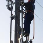 Kompozitní žebřík pro obsluhu elektrických stožárů