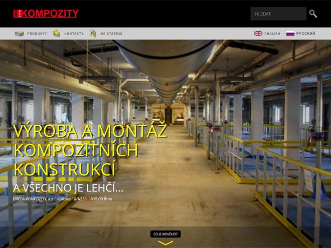 Nové internetové stránky Prefa Kompozity