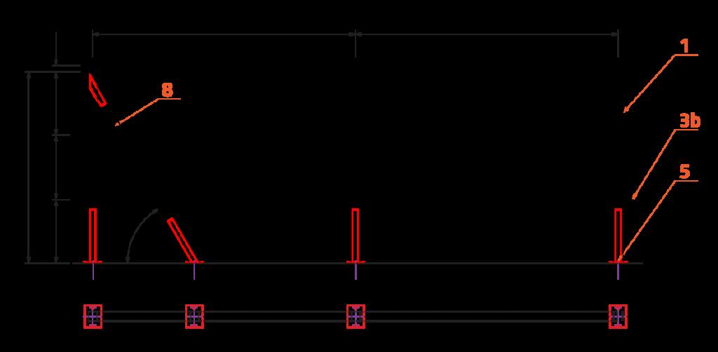 Kompozitní zábradlí s nerezovými lanky